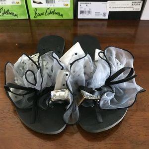 Shoes - Jewel Embellished Bow Flip Flop